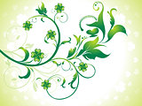 abstract st patrick floral background