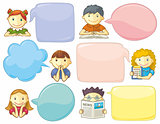 Personages With Speech Bubbles