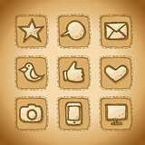 Social Hand Drawn Icons Set