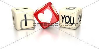 I love you dice