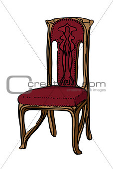 1900 style decorated chair