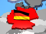 Germany with national flag