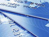 Credit card stack background