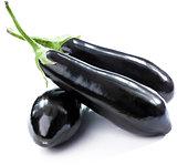 three eggplants