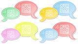 QR chat dialog