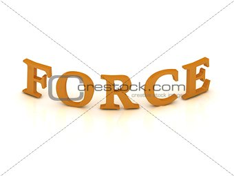 FORCE sign with orange letters