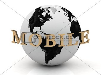 MOBILE abstraction inscription around earth