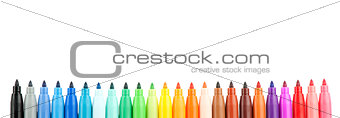 Set of colored felt-tip pens