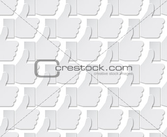 Grey like icons. Vector seamless pattern