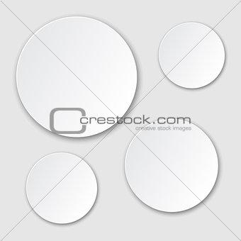 Grey circle blank background