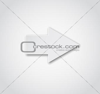 Grey arrow vector button