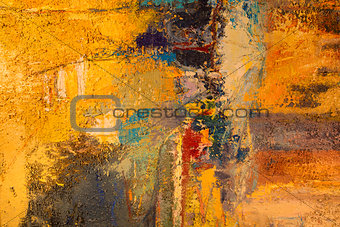 Painting of Abstract Colorful Background