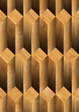 Parallelepipeds Wooden Background