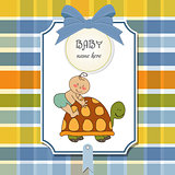 funny baby boy announcement card