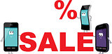 Discount for smartphones, sale