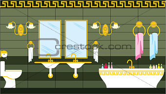 Bathroom in the Greek style