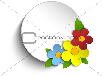 Beautiful Spring Flowers Circle Button Background