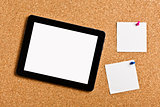 touch tablet with note papers