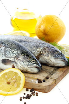Trout, lemon and olive oil.