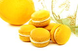Macaroons cake with lemon cream.