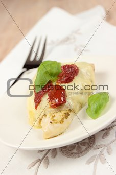 one portions of baked chicken