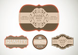 Vintage label Style with four Design Element