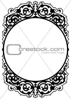 Antique decorative frame