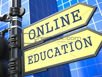 Business Concept.  Online Education Sign.