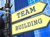 Business Concept. Team Building Sign.