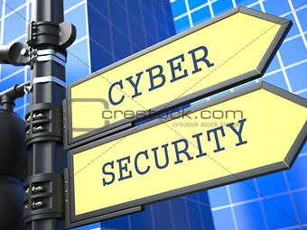 Business Concept. Cyber Security Sign.