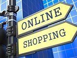 Business Concept. Online Shopping Sign.