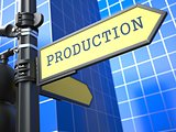 Business Concept. Production Sign.