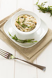 Risotto with hops