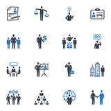 Management and Human Resource Icons - Blue Series