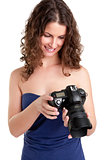 Woman Looking at a Camera