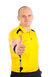 Portrait of a referee thumbs up