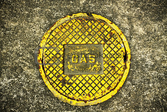 """Gas"" on Manhole Cover"