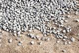 Pile Crushed stone