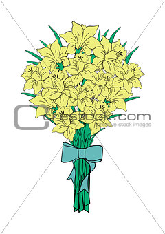 Bouquet of yellow narcissi