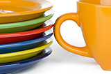Color plates and cup