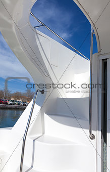 Stairway on a luxury boat