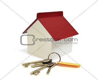 House with keys, home ownership conceptncept