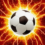 Soccer ball, lightnings