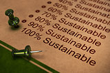 Fully Sustainable, Improving Sustainability
