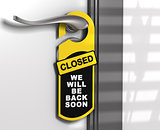 Closed Sign, Door Hanger