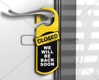 Closed Sign, Door Hanger