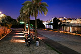 Night walk by the Guadalquivir