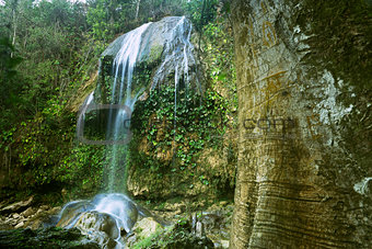 Views of the Soroa Fall, Pinar del Rio, Cuba