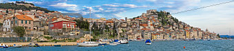 Historic town of Sibenik waterfront panorama