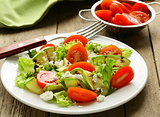 salad zucchini  with tomatoes and cream cheese